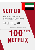 Netflix Gift Card 100 (AED) (United Arab Emirates - UAE)