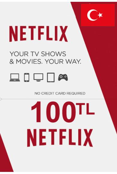 Netflix Gift Card 100 (TL) (TURKEY)