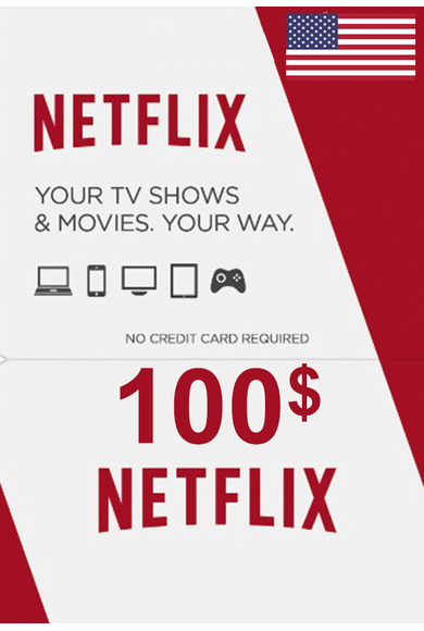 Netflix Gift Card $100 (USD) (USA)