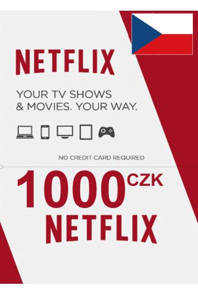 Netflix Gift Card 1000 (CZK) (Czech Republic)