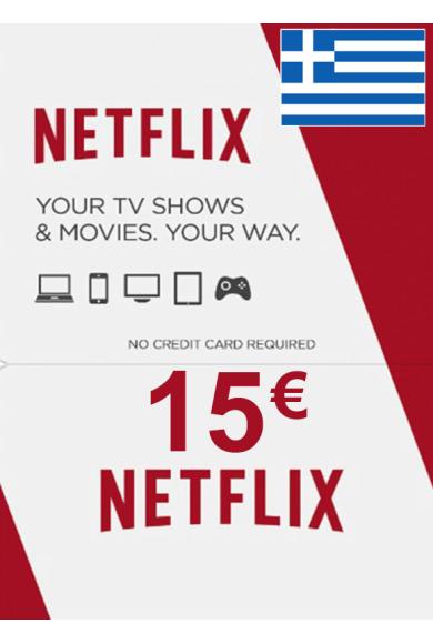 Netflix Gift Card 15€ (EUR) (Greece)
