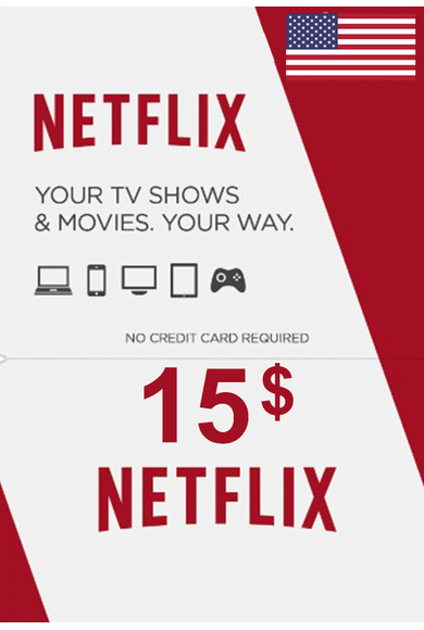 Netflix Gift Card $15 (USD) (USA)