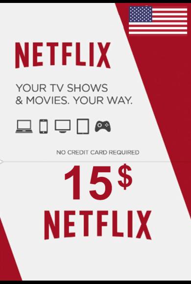 Netflix Gift Card $15 (USD) (USA)