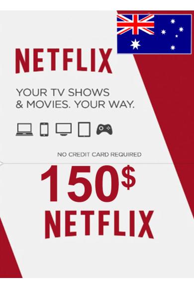 Netflix Gift Card 150$ (AUD) (Australia)