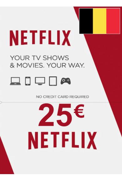 Netflix Gift Card 25€ (EUR) (Belgium)