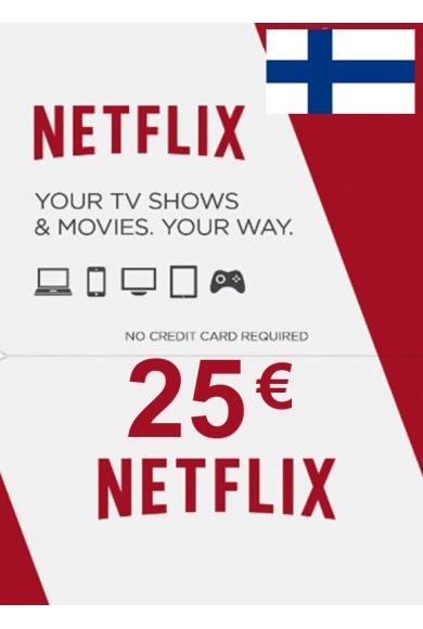 Netflix Gift Card 25€ (EUR) (Finland)