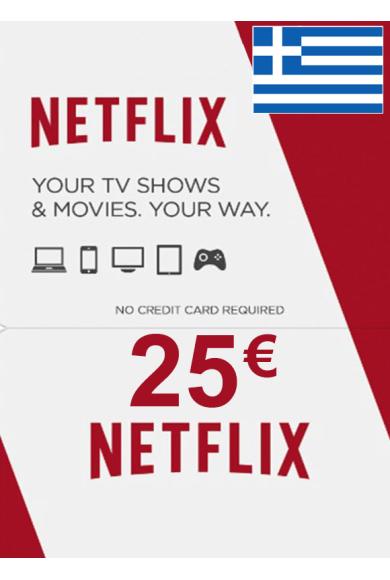 Netflix Gift Card 25€ (EUR) (Greece)
