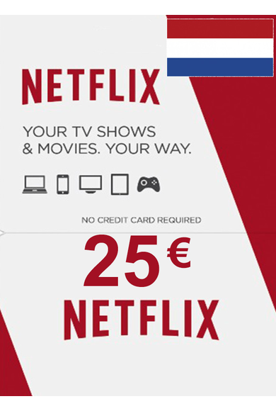 Netflix Gift Card 25€ (EUR) (Netherlands)