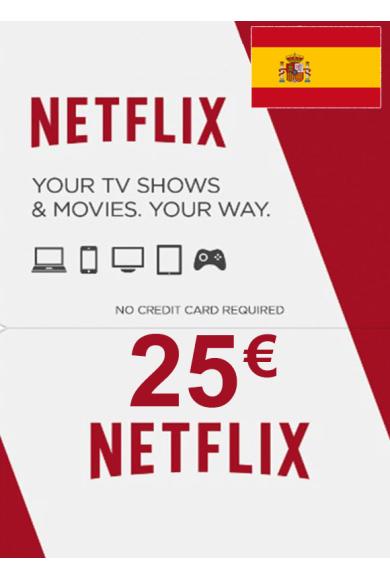 Netflix Gift Card 25€ (EUR) (Spain)