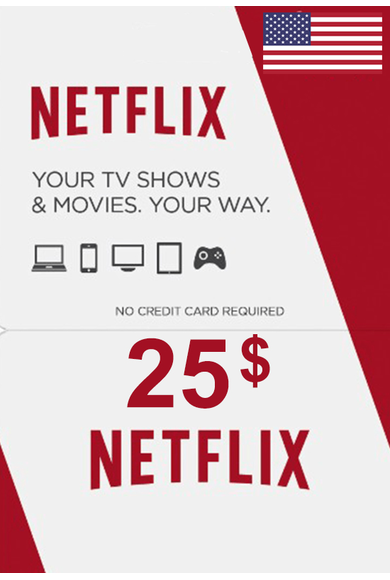 Netflix Gift Card $25 (USD) (USA)