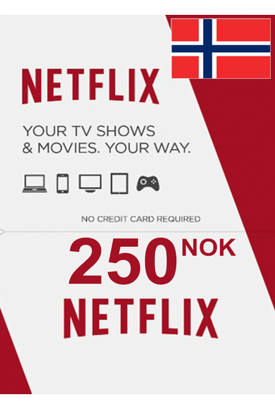 Netflix Gift Card 250 (NOK) (Norway)
