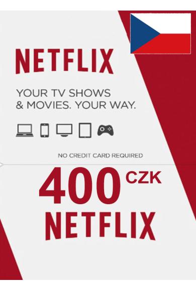 Netflix Gift Card 400 (CZK) (Czech Republic)