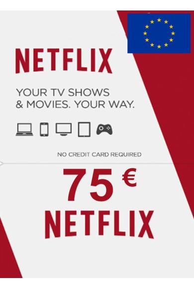 Netflix Gift Card 75€ (EUR) (EUROPE)