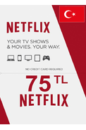 Netflix Gift Card 75 (TL) (TURKEY)