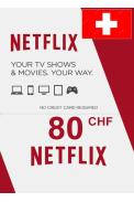 Netflix Gift Card 80 (CHF) (Switzerland)
