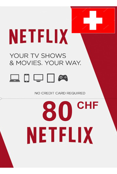 Netflix Gift Card 80 (CHF) (Switzerland)