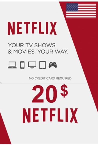 Netflix Gift Card $20 (USD) (USA)