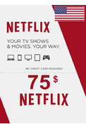Netflix Gift Card $75 (USD) (USA)