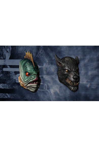 PAYDAY 2 - Lycanwulf and The One Below Masks (DLC)