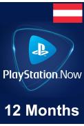 PSN - PlayStation NOW - 12 months (Austria) Subscription