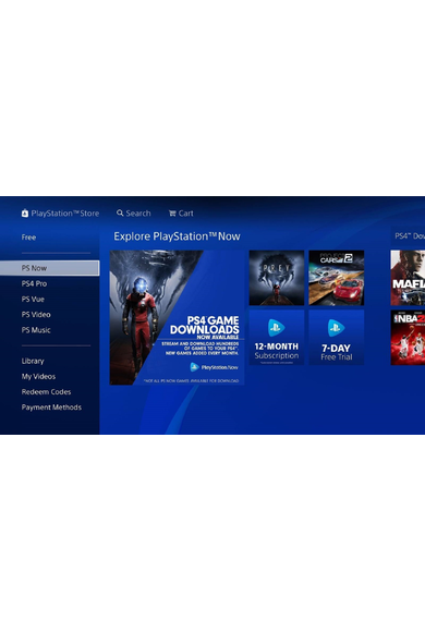 PSN - PlayStation NOW - 12 months (USA) Subscription