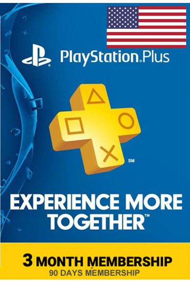 PSN - PlayStation Plus - 90 days (USA) Subscription
