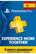 PSN - PlayStation Plus - 90 days (Spain) Subscription