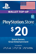 PSN - PlayStation Network - Gift Card $20 (USD) (USA)