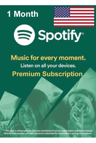 Spotify Premium Subscription 1 Month (USA)
