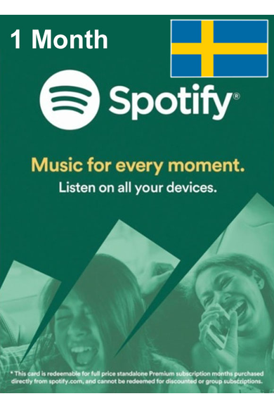 Spotify Subscription 1 Month (Sweden)