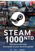 Steam Wallet - Gift Card 1000 (NTD) (Taiwan)