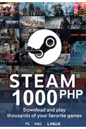 Steam Wallet - Gift Card 1000 (PHP) (Philippines)