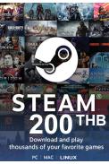Steam Wallet - Gift Card 200 (THB) (Thailand)