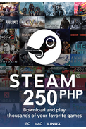 Steam Wallet - Gift Card 250 (PHP) (Philippines)