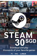 Steam Wallet - Gift Card 30 (SGD) (Singapore)
