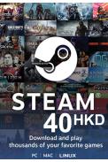 Steam Wallet - Gift Card 40 (HKD) (Hong Kong)