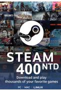 Steam Wallet - Gift Card 400 (NTD) (Taiwan)