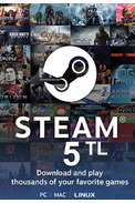 Steam Wallet - Gift Card 5 (TL) (Western Asia)