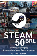 Steam Wallet - Gift Card 50 (BRL) (Brazil)