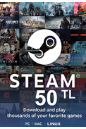 Steam Wallet - Gift Card 50 (TL) (Western Asia)