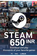 Steam Wallet - Gift Card 650 (INR) (Indian)