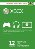 Xbox Live Gold 12 Months (BRAZIL)