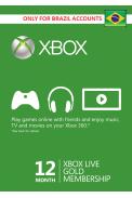 Xbox Live Gold 12 Meses (BRAZIL)
