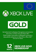 Xbox Live Gold 12 Months (Europe)