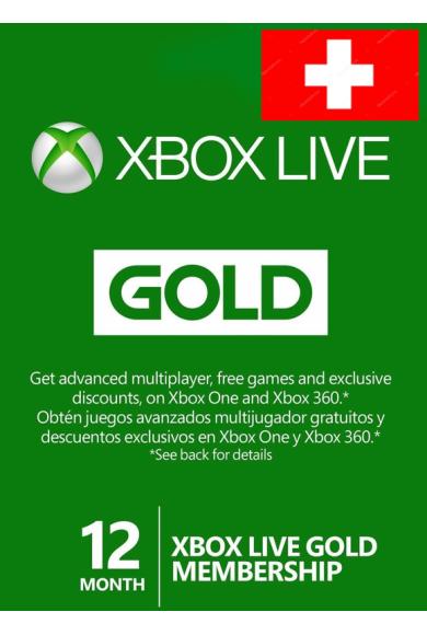 Xbox Live Gold 12 Months (Switzerland)