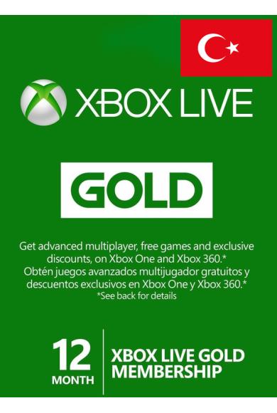 Xbox Live Gold 12 Months (Turkey)