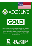 Xbox Live Gold 12 Months (USA)