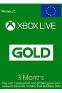 Xbox Live Gold 3 Months (Europe)