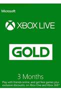 Xbox Live Gold 3 Mois