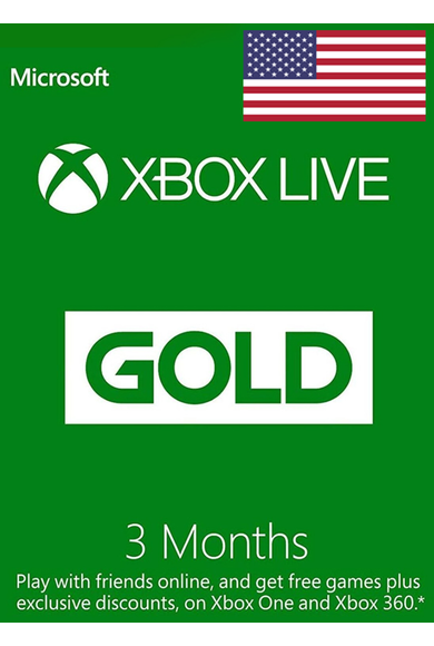 Xbox Live Gold 3 Months (USA)